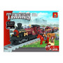 Tren Wester Y Caballeria Armable De Blocks, 531 Pcs