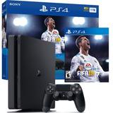 Ps4 Slim Consola Ps4 Play Station 4 Slim 1tb Nuevo + Fifa 18