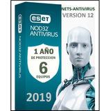Eset Nod32 Antivirus 1 Año Una Licencia Original Para 6pc