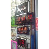Reloj Digital Led De Pared Calendario Temperatura De Oferta