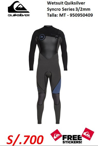 Wetsuit Quiksilver Fn Elite Cz Mt 3mm 2mm. S . 6a835e501
