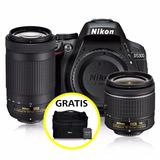 Kit Cámara Profesional Reflex Nikon D5300 C/18-55 Y 70-300