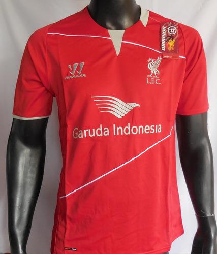 Camiseta Liverpool Entrenamiento 2014 - 2015 Warrior a43e2ac1c53