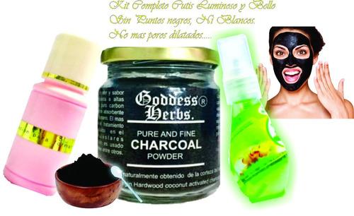 Carbon Activado Polvo/kit Compl.cutis Lumin Sn Puntos Negros