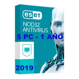 Eset Nod32 Antivirus 2019 V11v12licencia Original 1año X 5pc