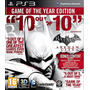 Batman Arkham City Goty Ps3 Español Juegos Ps3 Delivery