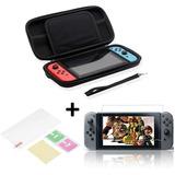 Nintendo Switch Estuche Case Rigido + Mica Vidrio Templado