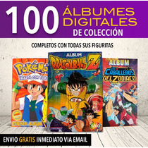 Álbum Digitales Dragon Ball, Saint Seiya,pokemon