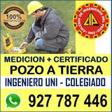Medicion Certificado Pozo Tierra - Instalacion Mantenimiento
