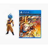 Juego Ps4 Dragon Ball Fighter Z + Muñeco Goku Ssgss Oficial