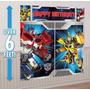 Transformers Decoracion Para Pared De Fiestas Infantiles
