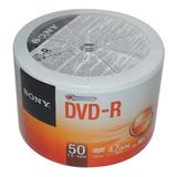 Dvd Sony 4.7gb 16x Cono X 50 Unidades Sellado