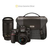 Nikon Oficial D7500 18-55 Vr, 70-300 Vr Y Mochila