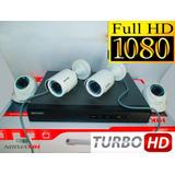 Kit 4 Camaras De Seguridad Hikvision Turbo Full Hd 1080p