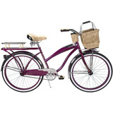 Huffy - Bicileta Catalina Aro 26 Con Canasta Y Portabotella