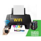Impresora Canon Wifi Con Sistema Continuo Black Premium