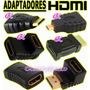 Adaptador De Hdmi, Micro Hdmi, Mini Hdmi, Union, Codo, Macho