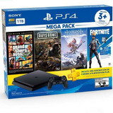 Ps4 Slim 1tb Bundle 6 Megapack + Gtav + Fornite + Days Gone