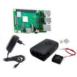 Raspberry Pi 3 Pi3 B Plus+fuente+case Ventilador+disipadores