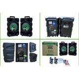 Pack 2 Parlante Activo Bluetooth + Pasivo De 200 Watts