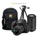 Nikon Oficial D3500 18-55 Vr, 70-300, Trípode Y Mochila