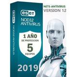 Eset Nod32 Antivirus 1 Año Una Licencia Original Para 5pc