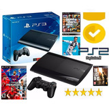 Ps3 Play Station 3 Super Slim 1tb + 100 Juegos Ps3+ps2 Y Mas