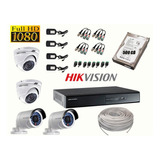 Kit 4 Camaras De Seguridad Hikvision Full Hd 1080p 500gb