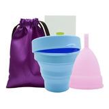 Copa Menstrual+vaso Esterilizador Certificado Tallas S Y L