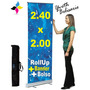 Banner Roll Screen Up Con Impresion 240x2 Mts Oferta!!