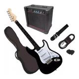 Gran Pack Guitarra Electrica Con Amplificador  Y Accesorios