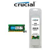 Memoria Ram Sodimm Crucial 16gb 1x16gb Ddr3l-1600