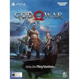 God Of War 4 Ps4 Codigo Digital Cuentas Usa Perú 100% Orig!!