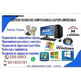 Servicio Técnico Computadoras,laptops,impresoras, Redes