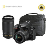 Nikon Oficial D3500 18-55 Vr, 70-300 Y Bolso