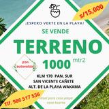 Vendo Mi Terreno 1000m2 Cañete, Klm 170