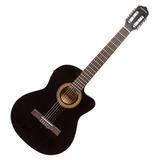 Guitarra Electroacústica Frcg44ceq, Color Negro, Freeman