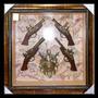 4 Pistolas Cuadro De Armas Grande !! 80cm Viajes Decoracion