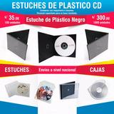 Estuche De Plástico Color Negro Para Cd