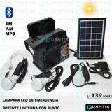 Kit Solar Portátil+3 Focos+radio Fm, Am,mp3+ Bluetooth+panel