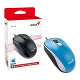 Mouse Para Pc Genius Dx-110 Cable Usb - Azul