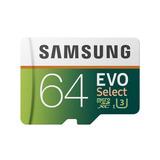 Samsung Micro Sd 64 Gb Evo Select 4k U3 100mb Genuino Pro