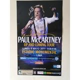 Poster Afiche Concierto Paul Mccartney En Lima The Beatles