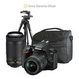 Nikon Oficial D3500 18-55 Vr, 70-300, Trípode Y Bolso