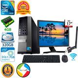 Computadora Core Duo 4gb Ddr3 Lcd 17 Teclado Mouse Gar. 1año