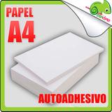 Papel Autoadhesivo Hoja Para Impresoras Blanco A4 Adhesivo