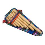 Zampoña De Bambu 13 Tubos Afinacion 4:40 Funda