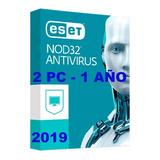 Eset Nod32 Antivirus V12 2019 Licencia Original 2 Pc 1 Año