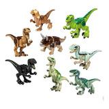 Tipo Lego Minifiguras Jurassic World Dinosaurios Perco X 8