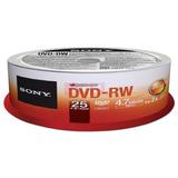 Dvd-rw Sony Cono - 25 Unid. 4.7gb 1-2x Regrabable